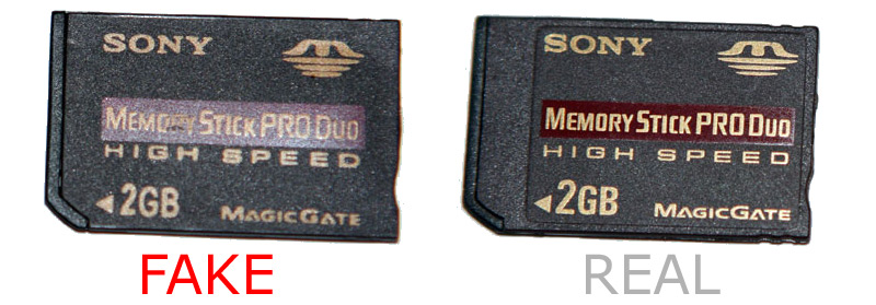 How to spot fake Sony Pro Duo memory card