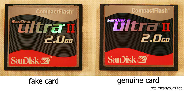 How to spot fake SanDisk CF memory card
