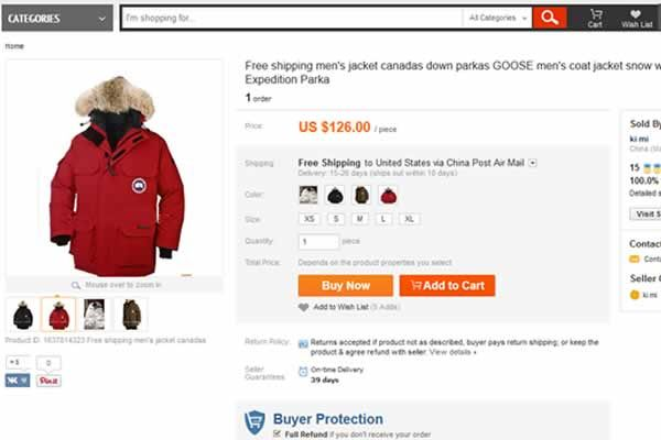 how to tell a fake canada goose parka