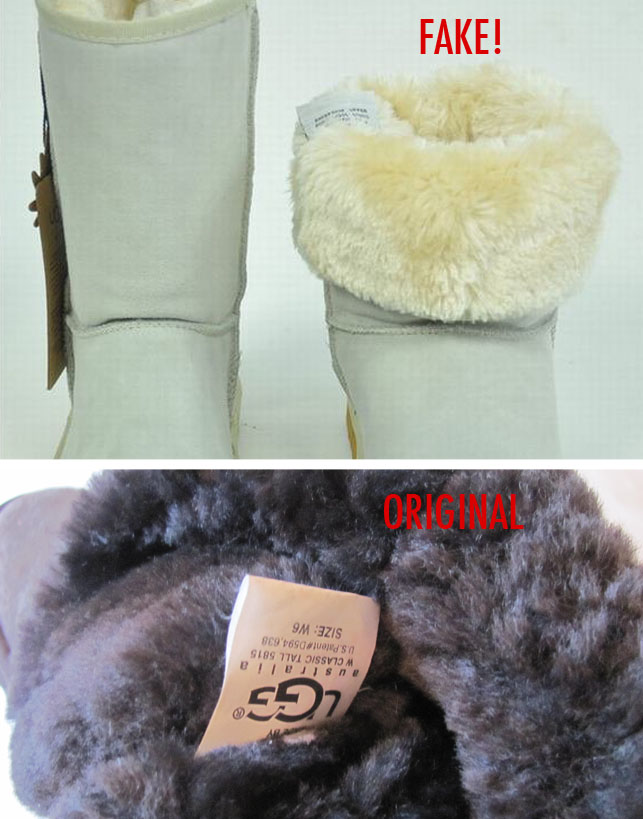 7b52cda7319 How to spot fake Ugg boots and recognize counterfeit Ugg shoes ...