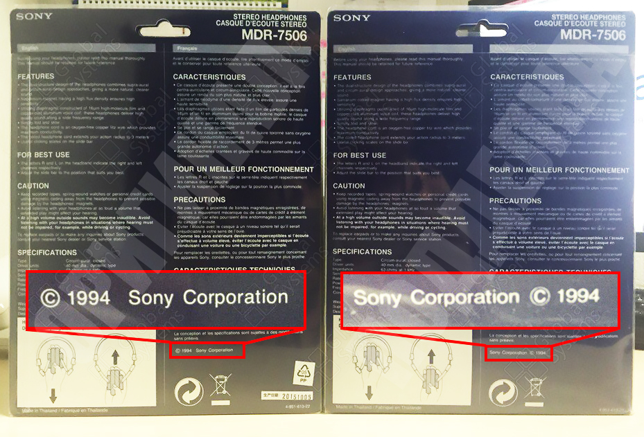How to spot fake Sony MDR 7506 headphones