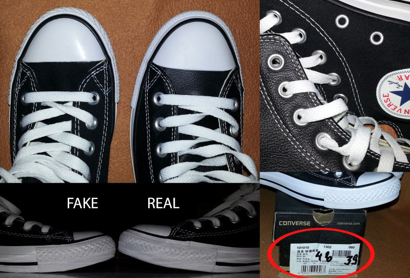 How to tell if Converse All Star shoes are fake or real