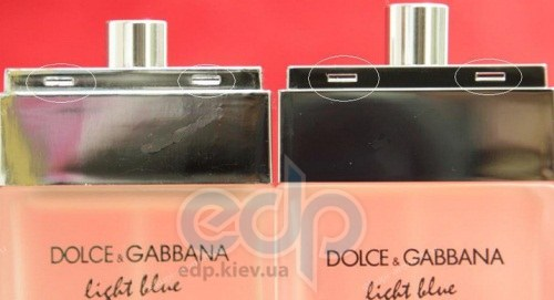 4b0493a055f3 How to spot fake Dolce   Gabbana D G Light Blue fragrance ...