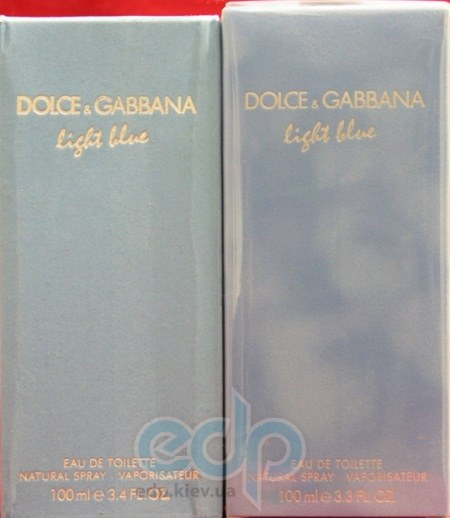 How to spot fake Dolce & Gabbana D&G Light Blue fragrance