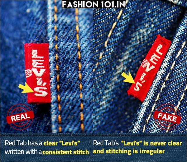 How to spot fake Levi's jeans