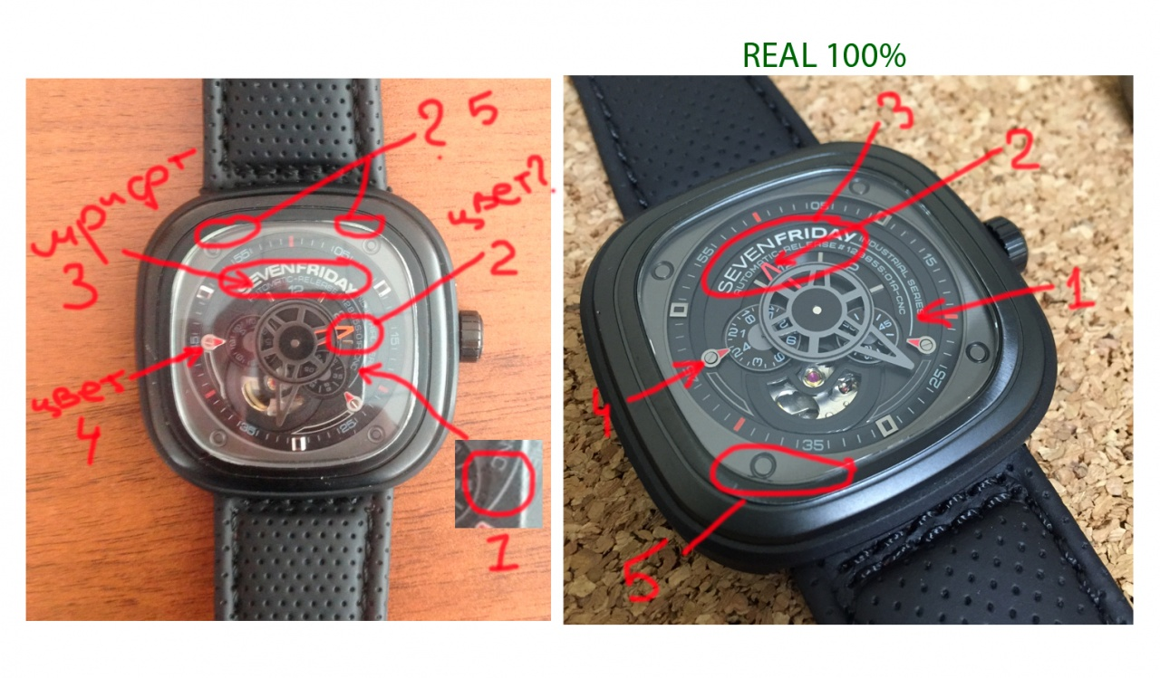 How to spot fake Sevenfriday watches